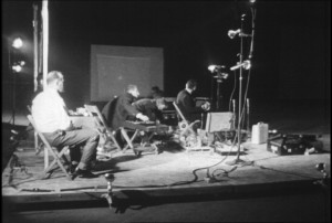 """9 Evenings: Theatre & Engineering, 1966, """"Bandoneon! (a combine)"""". Source: Scan Journal of Media Arts Culture/ Experiments in Art and Technology (E.A.T.)."""