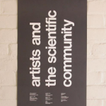 Poster from a meeting of the MIT's Center for Advanced Visual Studies, 1980. © MIT Center for Advanced Visual Studies.