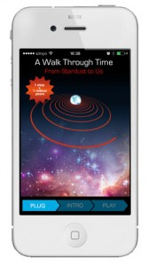 A Walk Through Time, vista de la app en un smartphone. Fuente: Walk Through Time