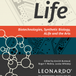 Portada de libro Meta-Life. Biotechnologies, Synthetic Biology, ALife and the Arts. Fuente: synthbioart.texashats.org